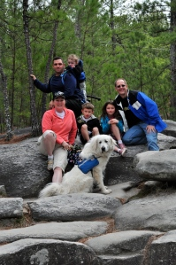 Hiking Stone Mountain, Atlanta, GA.
