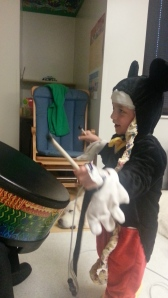Music therapy in the hospital, WOW, He loved it.